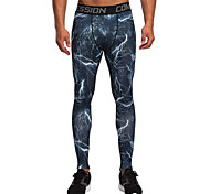 Running Tights / Pants / Bottoms Men's Breathable / Lightweight Materials Fitness / Running Vansydical Sports Wear Tight Performance Blue
