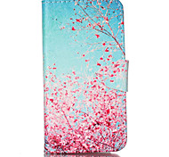 Pink Plum Pattern PU Leather Full Body Cover with Stand for Sony Xperia Z3 Compact