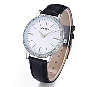 SINOBI ultrasottili grande quadrante in cristallo donne impermeabile vestono orologi cinturino in vera pelle orologio del quarzo di modo