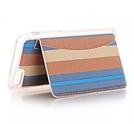 PU Stents The Wallet Card Stripe Mobile phone Case for iPhone 6S/iPhone 6 Assorted Coloe