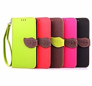 Leaf Pattern PU Wallet Leather Case with Hand Line for Asus Zenfone 2/Asus Zenfone 5(Assorted Colors)