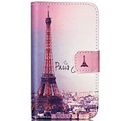 Paris Tower Painted PU Phone Case for Galaxy S2 I9100