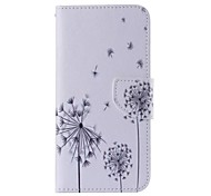 Dandelion Pattern Cell Phone Leather For Samsung Galaxy Note 5