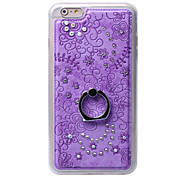 Diamond Soft TPU Cover Case Back with Mobile phone Ring Bracket Mobile phone shell For iPhone 6 Plus