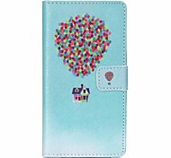 Balloon House Painted PU Phone Case for Sony Xperia Z5