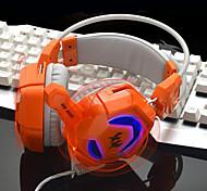 GS200 videojuegos de deportes electrónicos auriculares auriculares cafés de Internet, bajo resplandor pesada vibración con el tipo de