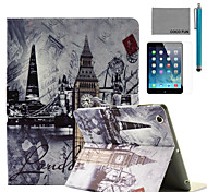 LEXY® Wall-clock on roof Pattern PU Leather Flip Stand Case with Screen Protector and Stylus for iPad Air/iPad 5