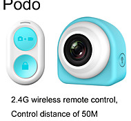 PODO G1 MINI WiFi Sport Action Camera 1080P Full HD with 2.4G Remote Control Selfie Camcorder(With 16GB Card)