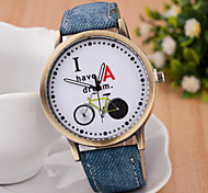 femme simple bicyclette montre-bracelet