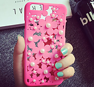 Candy Color Cases Fashion Hard Pierced Flower inch White Pearl Slim Phone Cover For iPhone5/iPhone 5s