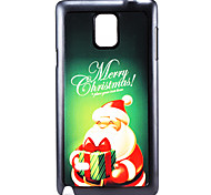 Christmas Santa Claus and Gift Pattern PC Hard Back Cover Case for Samsung Galaxy Note 4