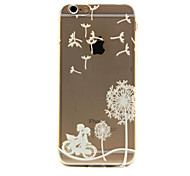 Bicycle love Pattern TPU Relief Back Cover Case for iPhone 6/iPhone 6S