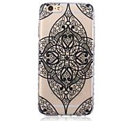 quatro padrão de flor TPU transparente textura do material para iphone 6 / 6s bf