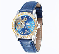 Women's Diamante Butterfly Full-Automatic  Round Dial Leather Band Machine Analog Hollow Wrist Watch(Assorted Color) Cool Watches Unique Watches