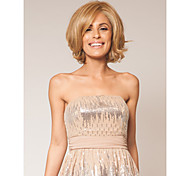 European and American High-temperature Wire Color Blonde Synthetic Hair And Short Hair Wig