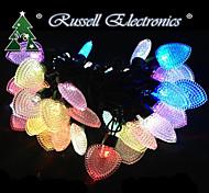 NEW String 20 FELT RGB HEART LED Fairy Lights Battery Small Lights Bead Love