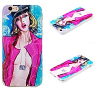 Plus iphone6 sexy goddess painted pattern 3D mobile phone shell