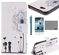 LEXY® Love Dandelion Pattern PU Full Body Leather Case with Screen Protector and Stylus for iPhone 6/6S Plus