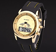Mens Watches Leather Led Digital  Military Gold Watches Montre Homme