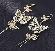 Earring Drop Earrings Jewelry Women Brass 2pcs Silver