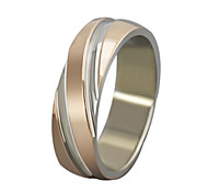 Z&X® Fashion Twill Scrub Titanium Steel Ring Band Rings Party / Daily / Casual 1pc