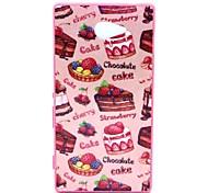 2-in-1 Schokolade muster pc rückseitige Abdeckung mit pc Autostoßfest Hartschalentasche für Sony Xperia m2