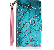 Branch Pattern PU Material Card Lanyard Case for iPhone 6/6S