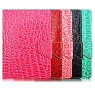 patrón de cocodrilo de alta calidad de cuero de la PU con el caso del soporte para la tableta de 7 pulgadas universales