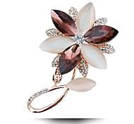 алмаз опал хрусталь брошь счастливые цветы