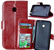 PU cuir carte portefeuille titulaire de luxe reposer le couvercle rabattable avec étui de cadre photo pour Nokia Lumia 630 (couleurs