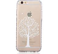 weiße Baummuster transparente TPU weicher Kasten für iPhone 6 / iphone 6s
