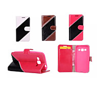 Twill Luxury Flip Cover Pouch Hybrid Leather Wallet Case For Samsung Galaxy Grand Prime/Core Prime