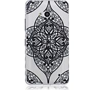 Flower Corners Pattern Material TPU Phone Case for Nokia N640