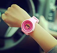 Mulheres Relógio de Moda Quartz Silicone Banda Relógio de Pulso