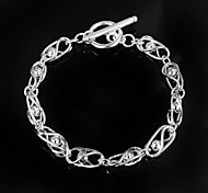 "Fashion Noble ""Beads""  925 Silver Party Chain & Link Bracelets For Woman&Lady"