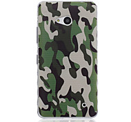 Navy Camouflage Pattern Material TPU Phone Case for Nokia N640