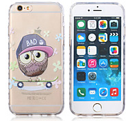 New Owl Pattern Waves Slip Handle TPU Soft Phone Case for iPhone 6/6S
