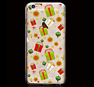 Christmas Gift Pattern Ultrathin TPU Soft Back Cover Case for iPhone 6/6S
