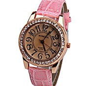 Womage 596 Quartz Watch Time Showed By 12 Arabic Numbers Leather Watch Band for Women Cool Watches Unique Watches Fashion Watch