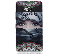 Masked Girl Pattern Material TPU Phone Case for Nokia N640