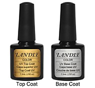 LANDLE Soak Off UV Nail Gel Polish Top And Base Coat Foundation LED Manicure Gel