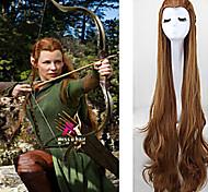 жен. Очень длинный Коричневый Волосы Искусственные волосы Машинное плетение