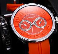 SINOBI Big Round Dial Quartz Silicone Watch Man Fashion Men Sport Watches Waterproof Outdoor Casual Wristwatch