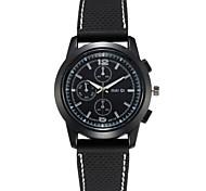 Men's Silicone Band Quartz Watch Fashion Sport Wristwatch