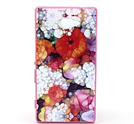 2-in-1-farbige Glasur Blumenmuster pc rückseitige Abdeckung mit pc Autostoßfest Hartschalentasche für Sony Xperia m2