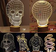 3D Skull Cartoon Model Creative Atmosphere USB Mood LED Decoration Table Lamp Warm White Night Light