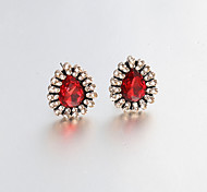 Earring Stud Earrings / Drop Earrings Jewelry Women Wedding / Party / Daily / Casual Alloy 2pcsDark Blue / Black / White / Red / Blue /