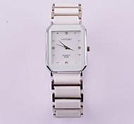 design neutro 100% relógio de quartzo cerâmica