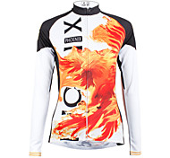 ilpaladinoSport Women Long sleeve Cycling Jersey New Style    CX601  Fire Phoenix  100% Polyester