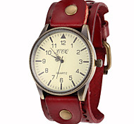 Unisex Vintage Big Dial Leather Band Quartz Analog Wrist Watch (Assorted Colors) Cool Watches Unique Watches Fashion Watch